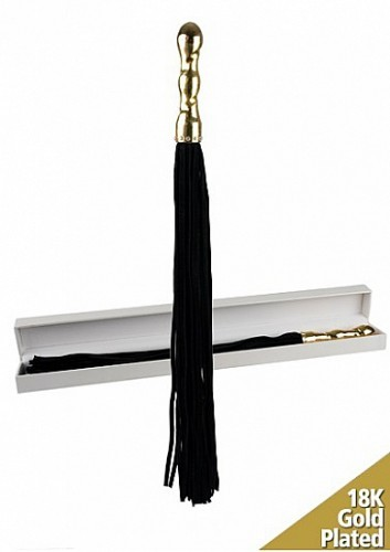 Плетка Luxury Whip 18k-Gold plated Black