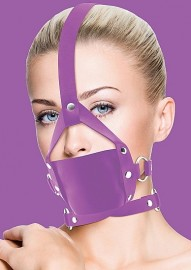 Кляп Leather Mouth Purple OUCH!